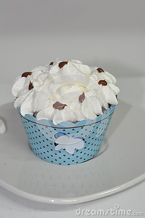 Chantilly cupcakes stock photo image 42268108 - Creme decoration cupcake ...