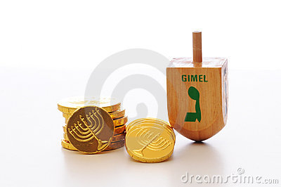 Chanukah Dreidel and Gelt
