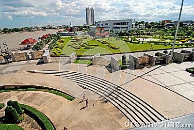 Chao Phraya River.Parks.