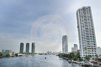 Chao phraya river Editorial Stock Photo