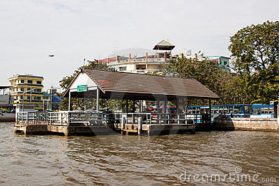 Chao Phya Express Boats Pier Editorial Image
