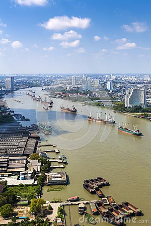 Chao Praya river city scape