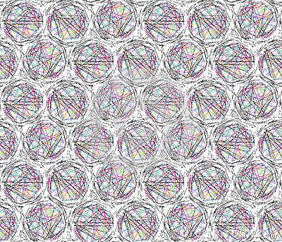 Chaotic Circles Lines Modern Seamless Background