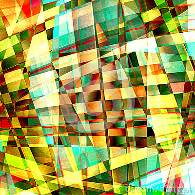 Chaotic pattern with colorful translucent curved lines