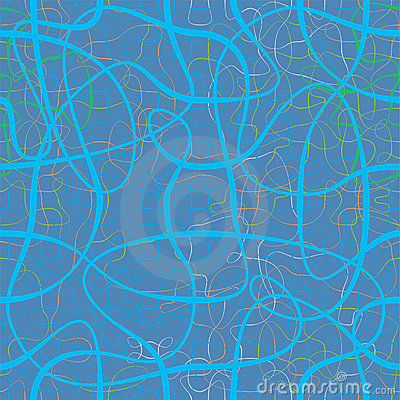 Chaotic ribbons in blue