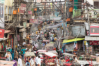 Electrical Wiring in Old Delhi, India — Stock Photo © johnnydevil ...