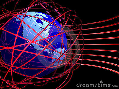 Chaotic wires around globe