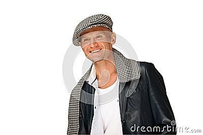 Chapéu desgastando do homem