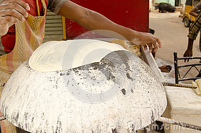 Chapati Bread making, Hyderabad