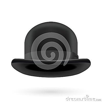 Chapeau de chapeau melon noir illustration de vecteur - Tableau chapeau melon pomme verte ...