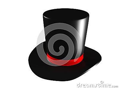 chapeau de magicien sur le fond blanc illustration de vecteur image 55062514