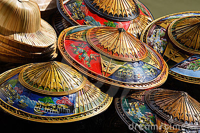 Chapeaux de la Thaïlande