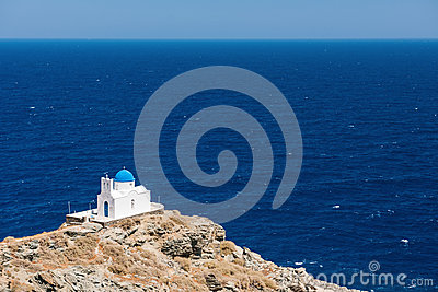 The chapel of 7 Martyrs, Sifnos, Greece