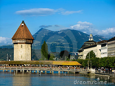 Chapel Bridge in Lucerne, Switzerland