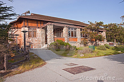 Chapel building at Asilomar State park Editorial Stock Image