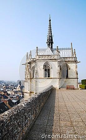 Chapel of castle in Amboise, France