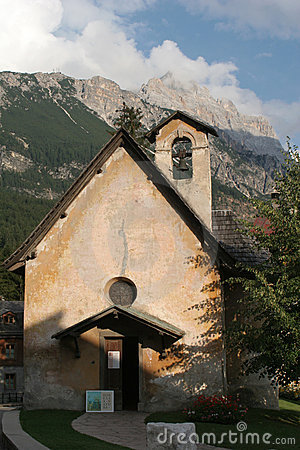 Chapel in cortina - dolomite