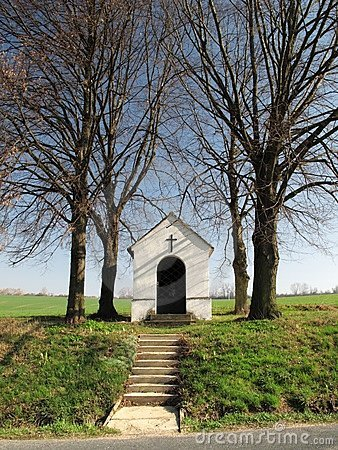 Chapel in fields