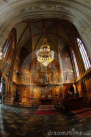 Chapel of gothic cathedral