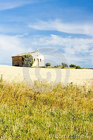 Chapel with grain field