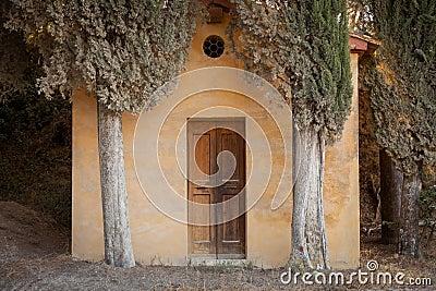 Chapel Lucignano d Asso, Tuscany, Italy