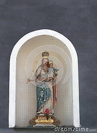 Chapel with Madonna and Jesus,Cesky Krumlov, Czech Republic