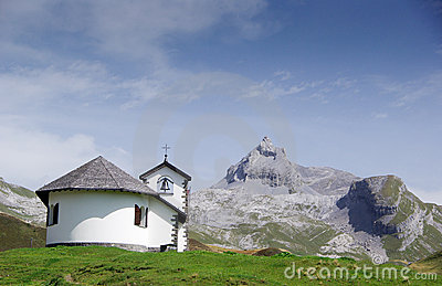 Chapel in the mountains.