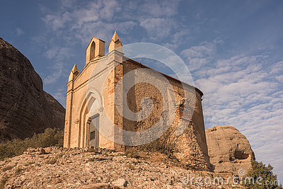Chapel of Sant Joan, Montserrat, Catalonia, Spain Stock Photo