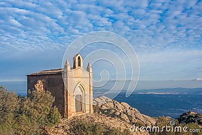 Chapel of Sant Joan, Montserrat, Catalonia, Spain Stock Photo