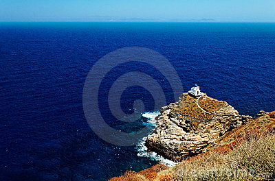 Chapel on Sifnos coastline