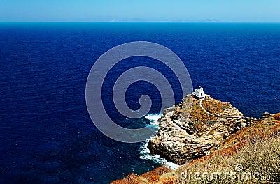 Chapel on Sifnos coastline