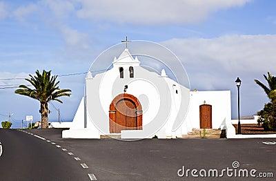 Chapel in Spain, Canary Islands, Lanzarote