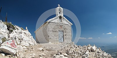 Chapel on the top of Sveti Jure
