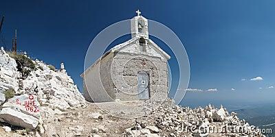 Chapel on the top of Sveti Jure
