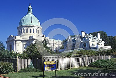 Chapel at the US Naval Academy Editorial Image