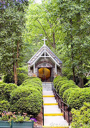 Chapel in woods