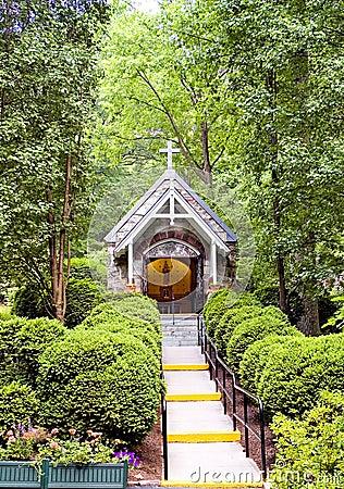 Chapel in woods