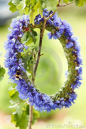 Chaplet from blue cornflowers
