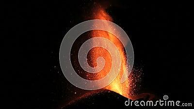 Chapoteo de la lava del Etna