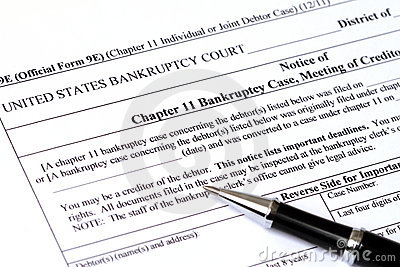 Chapter 11 Bankruptcy application