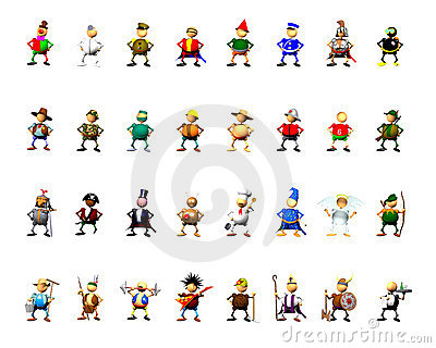 Character collection clipart