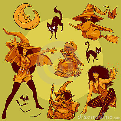 Character Design Collection 009: Halloween Witches