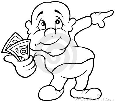 Character with Money