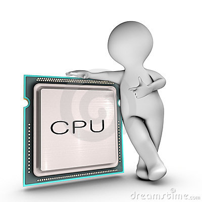 A character relies on a powerful CPU (Central proc