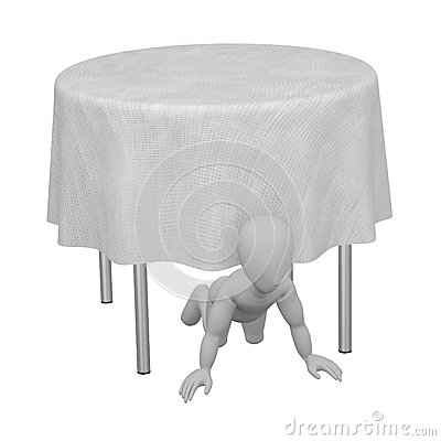 Character with table and tablecloth 14