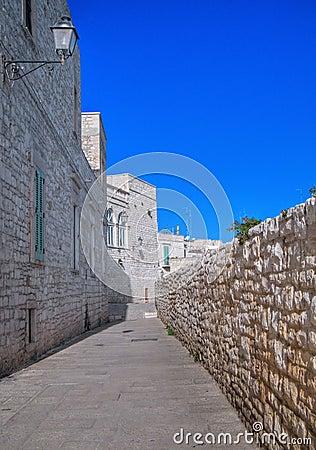 Characteristic alley of Giovinazzo. Apulia.