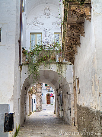 Characteristic alley of Martina Franca. Apulia.