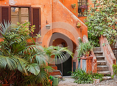 Characteristic courtyard in Italy