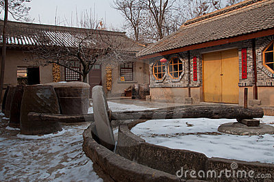 Characteristic dwellings in Xina China