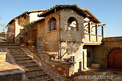 Characteristic house of Spello